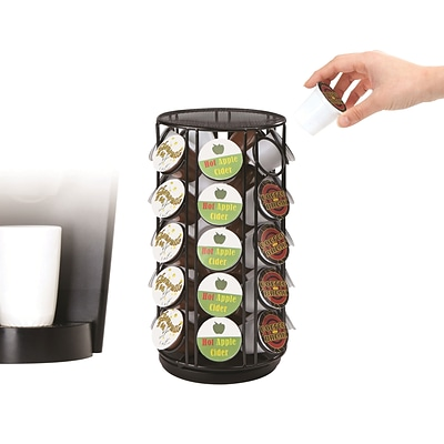 Mind Reader 35 Capacity Rotating Metal K-Cup Carousel, Black (METCAR35-BLK)