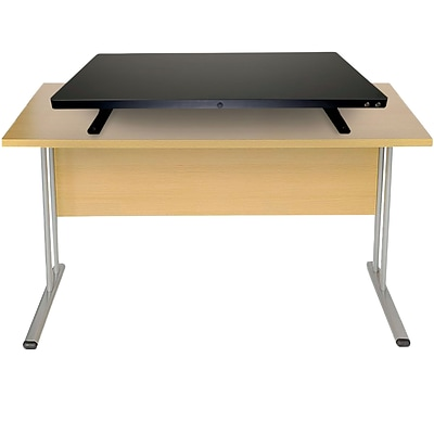 Mind Reader Electric Powered Adjustable Standing Desk with Color Coded Buttons, Black (SDELEC-BLK)