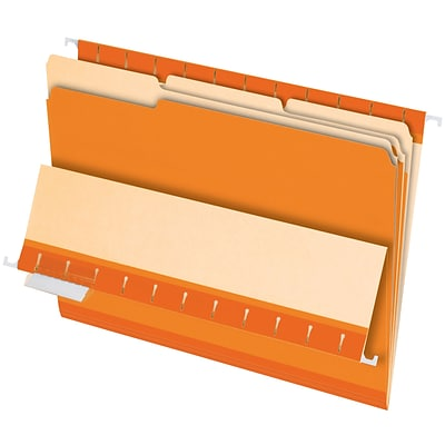 Pendaflex® Interior File Folders, Letter, Orange, 100/Box (421013GRA)