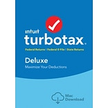 TurboTax Deluxe Fed + Efile + State 2017 for Mac (1 User) [Download]