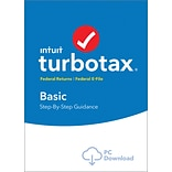 TurboTax Basic Fed + Efile 2017 for Windows (1 User) [Download]