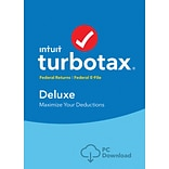 TurboTax Deluxe Fed + Efile 2017 for Windows (1 User) [Download]