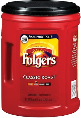 Folgers® Classic Roast Ground Coffee; 48 Oz. Canister