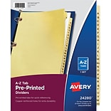 Avery® Laminated Pre-Printed Tab Dividers, A-Z Tabs, Buff, Copper Reinforced, 8 1/2 x 11, 1/St