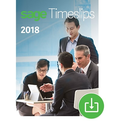 Sage Timeslips 2018 Time and Billing 3-User for Windows (1-3 Users) [Download]