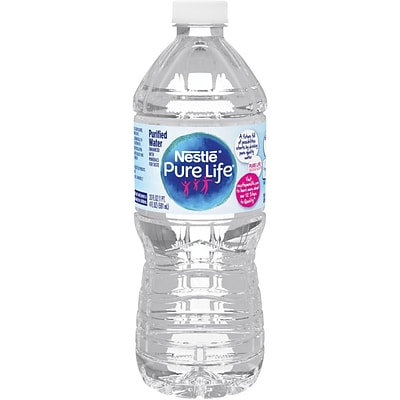 Nestle Pure Life Purified Water, 20-ounce Plastic Bottle, 24/Case