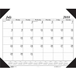 2018-2019 House of Doolittle Academic Desk Pad Calendar, Economy Black, 22 x 17 (HOD-12502)
