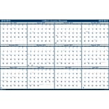 2018-2019 House of Doolittle Erasable Reversible Academic Yearly Wall Calendar, Laminated Blue, 18