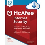 McAfee Internet Security for 10 Devices for Windows (1-10 Users), Download (8EA6QNGB4J7JQRA)