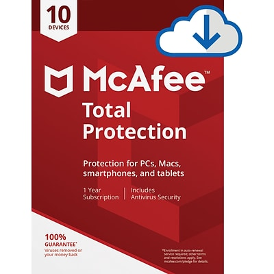 McAfee Total Protection for 10 Devices for Windows (1-10 Users), Download (R2ZUKZQAWK4LUKD)