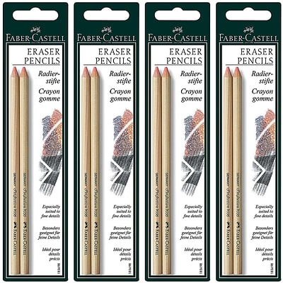 Faber-Castell Perfection Eraser Pencils, 4/Pack (23445-PK4)