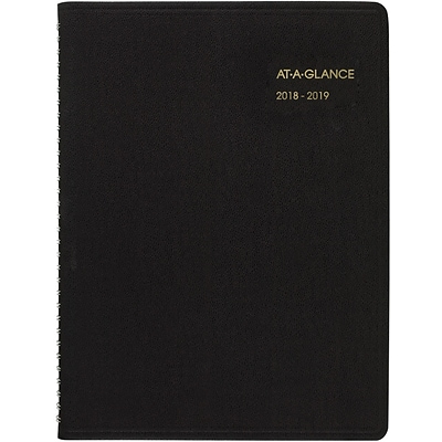 2018 2019 at a glance academic weekly appointment book planner 14