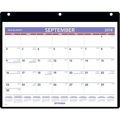 2018 2019 At A Glance Academic Monthly Desk Wall Calendar 16