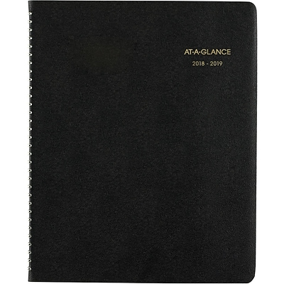 2018-2019 AT-A-GLANCE® 8 7/8 x 11 Large Academic Monthly Planner, 18 Months, Black  (70-074-05-19)