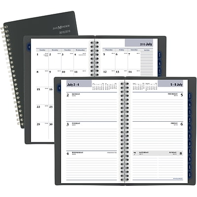 2018 2019 at a glance academic dayminder weekly monthly planner