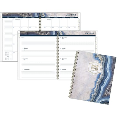 2018-2019 AT-A-GLANCE® Sapphire Academic Weekly/Monthly Planner, 8-1/2 x 11 (1106-905A-19)