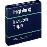 Highland™ Invisible Tape, Matte Finish,  1 x 72 yds., 1 Roll (620012592)