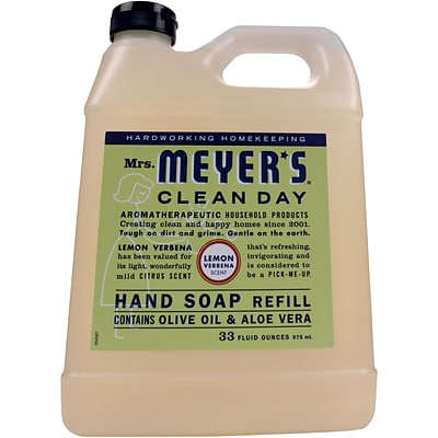 Mrs. Meyers Clean Day Hand Soap Refill, Lemon Verbena, 33 fl oz (651327)