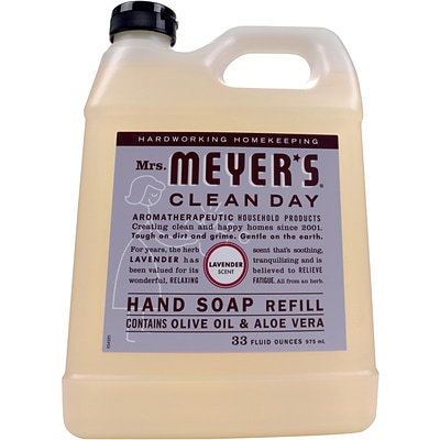 Mrs. Meyers Clean Day Hand Soap Refill, Lavender, 33 fl oz (651318)