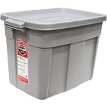 Rubbermaid 18 Gallon Roughneck Tote, Steel Gray (RMRT180007)
