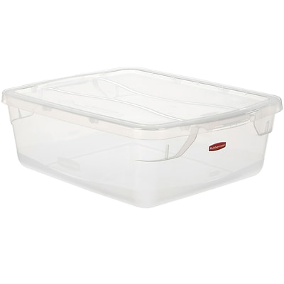 Rubbermaid 15 Quart Clever Store Tote, Non-Latching (RMCC150003)