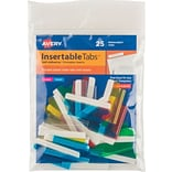 Avery® Self-Adhesive Plastic Tabs with Printable Inserts, 1-1/2 Multi-Color
