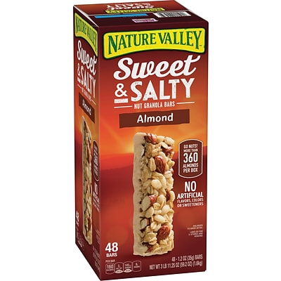 Nature Valley Sweet & Salty Nut Granola Bars Almond, 1.2 oz, 48 Count