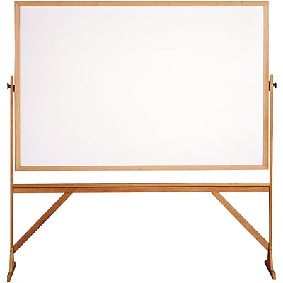 Ghent 4 H x 6 W Reversible Whiteboard with Wood Frame (RMM46)
