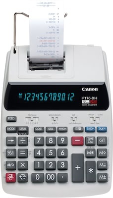 Canon P170 DH Desktop Printing Calculator, White