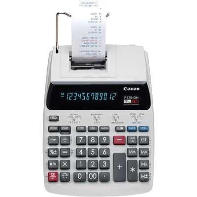 Canon P170-DH Desktop Printing Calculator, White