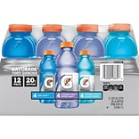 Gatorade Variety Pack of 20 oz Bottles, Pack of 12 (QUA13331)