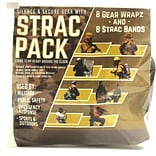 STRAC Combo Pack, 8 STRAC Black EPDM Rubberbands & 8 Black EPDM Gear Wrapz in Zip Close Poly Pouch.