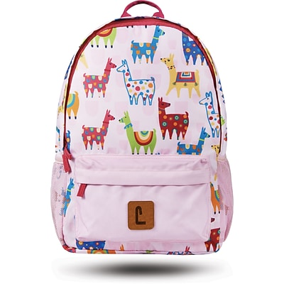 Staples Paxton 16 Backpack, Llamas Pattern, 4.72W x 16.14H x 11.81D (52396)