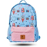 Staples Paxton 16 Backpack, Ice Cream Pattern, 4.72W x 16.14H x 11.81D (52397)