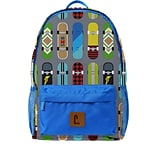 Staples Paxton 16 Backpack, Skateboard Pattern, 4.72W x 16.14H x 11.81D (52401)