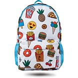 Staples Sixteen 60 18 Backpack, Emoji Pattern, 5.51W x 17.71H x 11.81D (52407)
