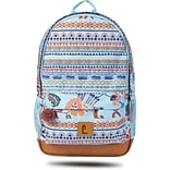 Staples Dalton 18 Backpack, Multicultural Pattern, 5.51W x 17.71H x 11.81D (52411)