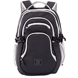 Staples Pembroke 18 Backpack, Black, 6.88W x 18.11H x 12.20D (52421)
