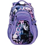 Staples Pembroke 18 Backpack, Abstract Purple, 6.88W x 18.11H x 12.20D (52422)