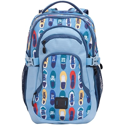 Staples Paxton 16 Backpack, Shark Pattern, 4.72W x 16.14H x 11.81D (52395)