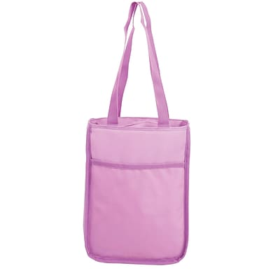 Staples Tote Lunch Bag, Purple, 9.25W x1 2.2H x 3.54D (52446)