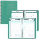 2018-2019 Brownline® Daily Academic Appointment Book with Monthly Planner, Emerald, 12 Months, 8 x