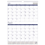 2018 - 2019 Blueline® 12 x 17 DuraGlobe™ Two-Month View Academic Wall Calendar, 13 Months  (CA1722