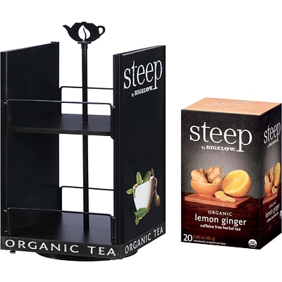 FREE Tea Carousel when you buy 8 boxes of Steep by Bigelow® Organic Tea