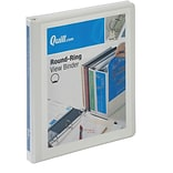 Quill Brand® 1/2 Round Ring View Binder
