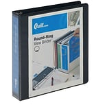 Quill Brand® 1-1/2 Round Ring View Binder