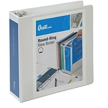 Quill Brand® White 3 Round Ring Binder