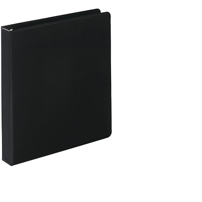 Quill Brand® 1 inch, Heavy-Duty, D-Ring, Reference Binder w/ Easy-Open, Black (780201)