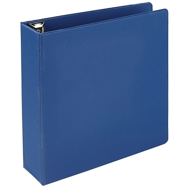 Quill Brand® 3 3 Ring Heavy-Duty D-Ring Reference Binder w/ Easy-Open, Blue (780502)