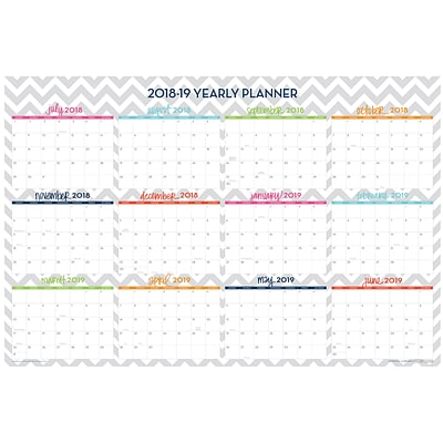 2018-2019 / 2019 Blue Sky Academic Dabney Lee Laminated Wall Calendar, Ollie, 36 x 24 (102411-19)